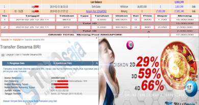 Jackpot Pasaran SINGAPORE 25 Februari 2019