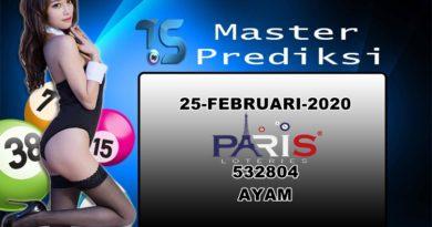 Prediksi Togel Paris 25 Februari 2020