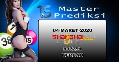 Prediksi Togel Shanghai 04 Maret 2020
